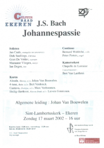 Cantuva Johannespassie Ekeren