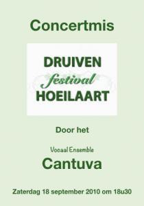 Cantuva Concertmis Druivenfestival