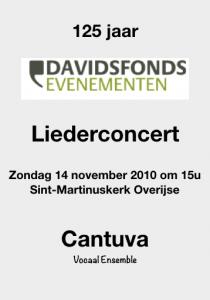 Cantuva Liederconcert Davidsfonds