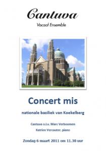 Cantuva Concertmis basiliek van Koekelberg